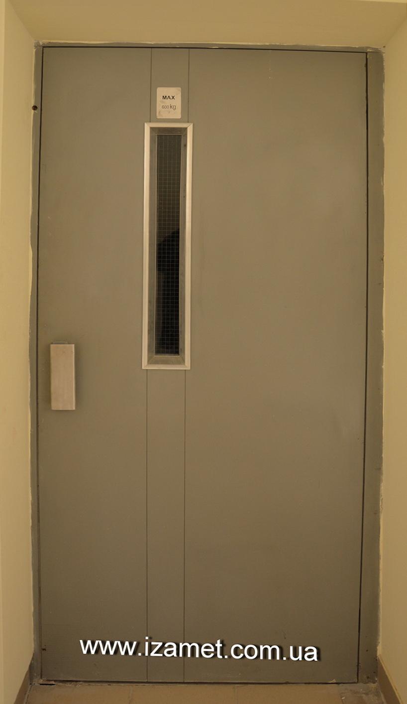 Двері, ліфт вантажний без супроводжуючого